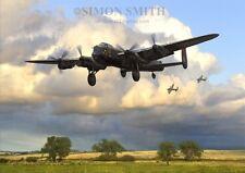 AVRO LANCASTER BOMBER COMMAND ARTIST SIGNED LTD EDITION PRINT GIBSON BIII BI 617
