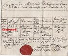 Historische Handschrift 1834 lateinisch Slowakei? Kesmark? Siegel Mondok Thurman