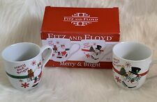 Fitz and Floyd Collectible Christmas Mug Set of 2