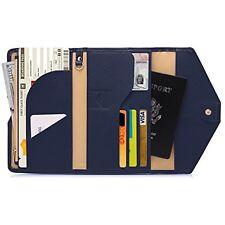 Zoppen Mulit-purpose Passport Wallets Rfid Blocking Travel Passport Wallet Navy