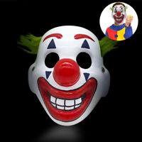 DC Movie Joker Arthur Fleck Cosplay Mask Clown Masquerade Halloween Scary Mas`