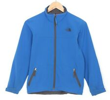 THE NORTH FACE Blue Stretch Soft Shell Jacket Kid's Boy's Size M 10/12 MJ1571