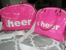 TRUMPETTE HOT PINK Cheer BAG TRAVEL CARRY ON HANDBAG LOT Duffle EUC