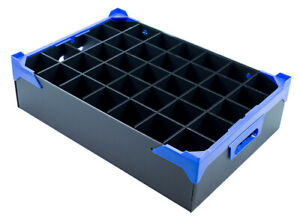 Catering and Events Storage Box - Tea Light Tray - 35 Cells - H120xD65mm
