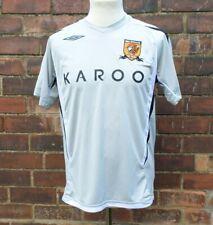Hull City 2007 08 Season Away Football Shirt Grey Umbro Karoo Men's S READ DESC