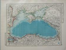 1919 MAP ~ BLACK SEA ISTAMBOL CRIMEA RUSSIA TURKEY KHERSON