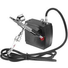 AC100-240V Precision Dual-Action Airbrush Air Compressor Kit Set Craft Cake Hobb