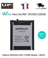 100% ORIGINAL Wiko View Lite (WC300) C300AE Batterie 3000mAh 3.85V 11.55Wh