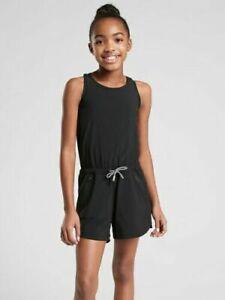Athleta Girl Black On The Go Active Shorts Romper NWT Various Sizes