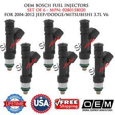 6PCS OEM BOSCH Fuel Injectors for 2004-2012 JEEP/DODGE/MITSUBISHI 3.7L V6