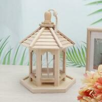 Natural Wooden Roosting Hanging Bird House Nest Feeder Eco Friendly Garden