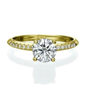 2.1 CARAT DIAMOND RING D SI1 SOLITAIRE ACCENTED EX 14 K YELLOW GOLD + APPRAISAL