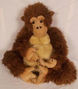 "FAO Schwarz Toys R Us 20"" Plush Stuffed Animal Orangutan Chimp Ape Monkey 2011"