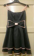 WOMENS GORGEOUS DARK GREY BOW  DRESS SIZE  10.  OFFERS.