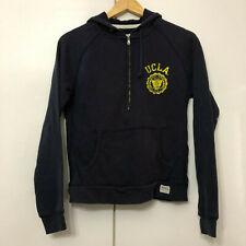 Vintage CHAMPION Hoodie Zip Classic Retro Navy Small UCLA