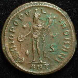 Diocletian BI follis, GENIO POPVLI ROMANI, Antioch 298AD - RIC VI 50a