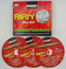 More details for zoom karaoke cd+g - ultimate party superhits - triple cd+g karaoke disc pack