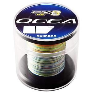 SHIMANO PE LINE OCEA EX8 Concept Model 600m #1 20lb PL-098L Multi Color PE Line