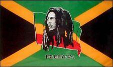 FAHNE/FLAGGE  Reggae  Bob Marley  Freedom Jamaica   90x150