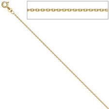 Ankerkette 585 Gelbgold 1,2 mm 45 cm Gold Kette Halskette Goldkette Federring