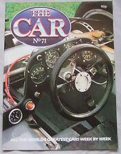THE CAR magazine Issue 71 featuring Maserati Bora & Merak, Gas Turbine Cars