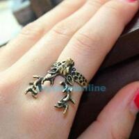 Vintage Bronze Cute Deer Finger Ring Fashion Retro Animal Women's Jewelry US 6