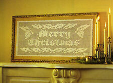 MERRY Christmas Motto Doily/CROCHET PATTERN INSTRUCTIONS ONLY