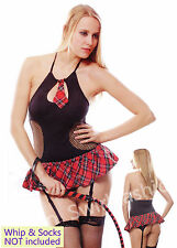 W3557 Hot Sexy Red School Girl Party Halloween Costumes