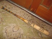 Paul Faries Autographed Game Used Louisville Slugger Baseball Bat M110
