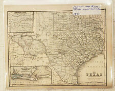 Antique Mitchell's Map of Texas Original Hand Color 1871