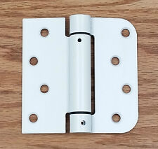 "White Spring Loaded Hinges - Self Closing - 4"" with 5/8"" Square - 2 Pack"