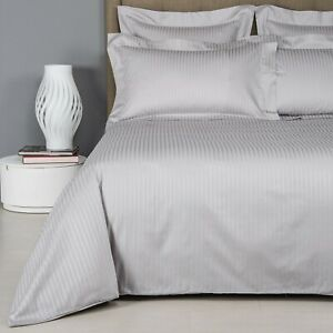 Frette Hotel Atlantic Super King Grey Duvet Cover + Two Pillowcases BNWT