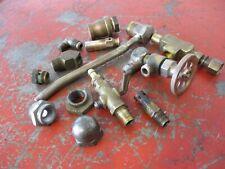 Antique Brass Hit Amp Miss Steam Engine Valves Petcock Parts Lot