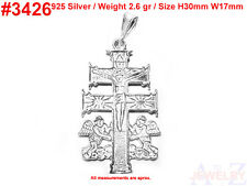 #3426 Cross Orthodox Christian Charm 925 Silver Jewelry Pendant Necklace