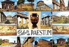Italy Saluti da Paestum multiviews Roman Forum Vase Temple