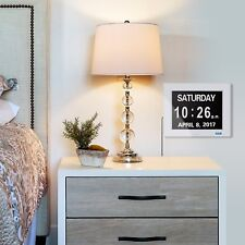Digital Calendar Day Clock with Large Clear Time Day and Date FAST FREE DEL