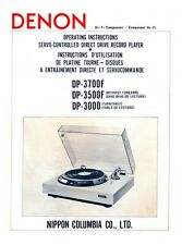 Denon DP-3500F Turntable Owners Manual
