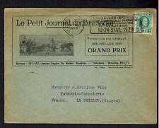 1929 Brussells Belgium cover to Vosges France Grand Prix Illustrated