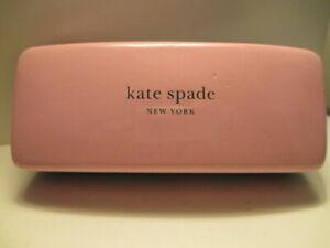 KATE SPADE New York Pink & Green Sunglasses Eyeglasses Hard Case w/ some wear