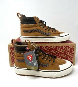 VANS Men's Sk8-Hi MTE 2.0 Dx Glazed Ginger Brown Shoes Suede Boots VN0A4P3IRIZ