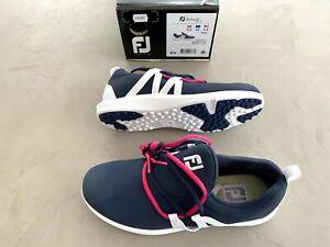 Footjoy Ladies Leisure Slip On Golf shoes Navy / White UK 6.5 Wide - Ex display