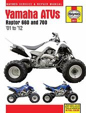 2001-2012 Yamaha Raptor 660 700 Atv Quad Haynes Repair Manual 2977