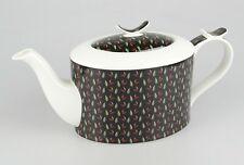 JAMESON&TAILOR Designer-Teekanne, Dekor Teeblätter, Brillantporzellan, 1,5 l