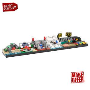 MOC-37494 Mario Kart 64 Skyline with 6 Iconic Tracks Building Blocks Toys Sets