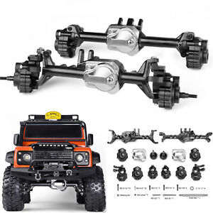 GRC G2 Aluminum Full Front & Rear Axle Set For Traxxas TRX4 TRX-4 1:10 RC Truck
