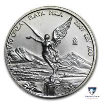 2001 1/10 oz Mexico Silver Libertad Coin (BU)