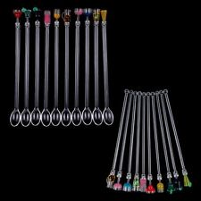 10Acrylic Cocktail Drink Swizzle Stir Sticks Spoon Drink Stirrers Party Bar 23cm