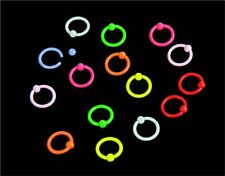 Eyebrow Ring Neon Colour Bcr Captive Earring Lip Nipple Rook Helix Hoop 16g 8mm