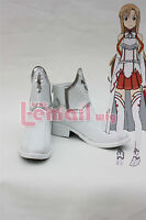 Sword Art Online Asuna Yuuki Deluxe Boots Anime Cosplay Shoes Custom Made