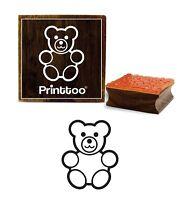 Printtoo Teddy Bear Design-Platz Craft Textile Brown Holz Stempel